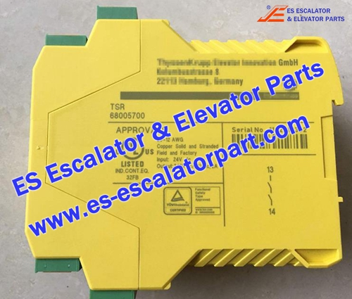 Thyssenkrupp Escalator Parts TSR 68005700 Speed Monitor