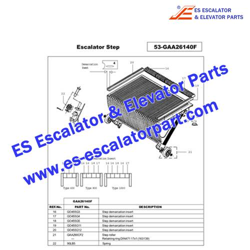OTIS Escalator Part GO455G11 Step Demarcation NEW