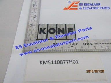 KONE KM5110877H01 PLATE LOGO ALU