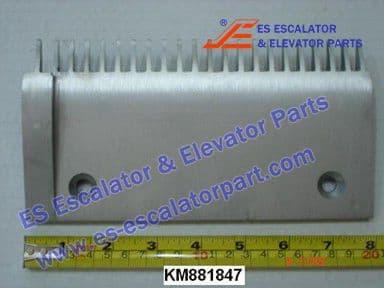 KONE KM881847 Comb Plate LEFT EXTRU TOOTH ALUMINIUM