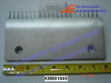 KONE KM881849 Comb Plate RIGHT FLAT TOOTH ALUMINIUM