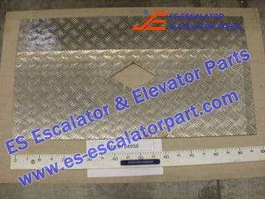 KONE DEE0794950 Comb Plate LINING-538X1000-ALMG3F20