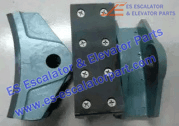 Hitachi 14E brake shoe brake block machine brake lining