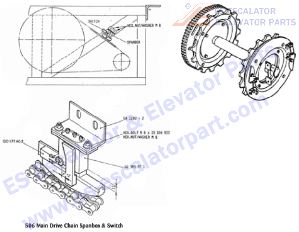 GO2215H13 Main Drive Bearing with Hardware