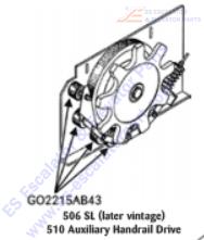 OTIS GO2215AB43 Rollers