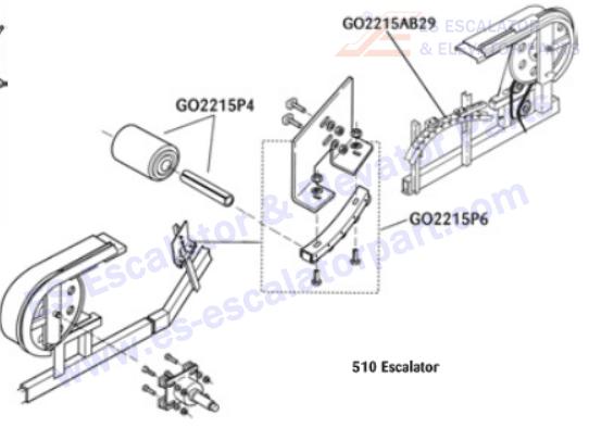 OTIS GO2215P4 Rollers