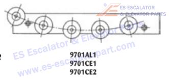 OTIS 9701AL1 Rollers