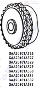 OTIS GAA20401A531 Sprockets–Pulleys–Sheaves