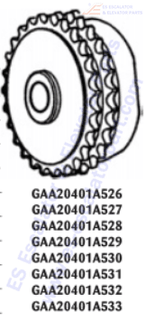 OTIS GAA20401A533 Sprockets–Pulleys–Sheaves