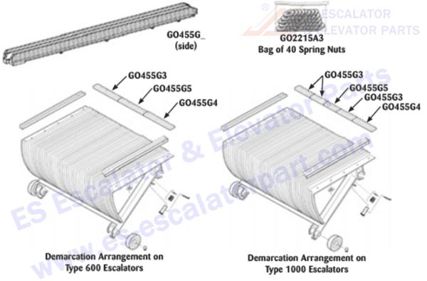 OTIS GO455G12 Step Demarcations