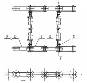 HYUNDAI C65000071 135KN Chain with axle