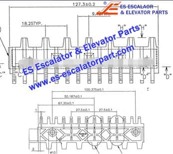 Escalator Part 645B028H01 Step Demarcation NEW
