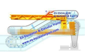 Escalator Part XAA455S1 Step Demarcation