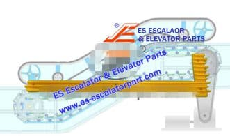 Escalator Part XDDM4122NS Step Demarcation