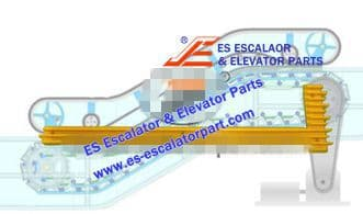 Escalator Part XDDM4123NS Step Demarcation