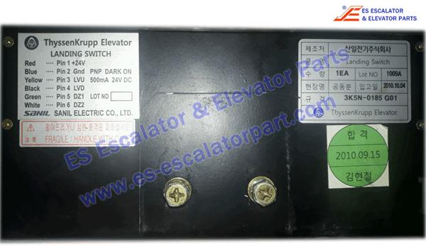 ThyssenKrupp Elevator Landing Switch 3K5N-0185 G01