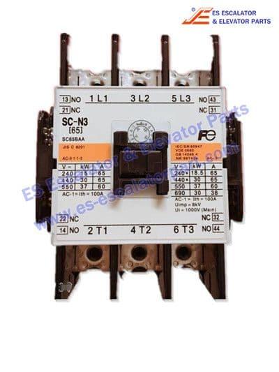 Elevator contactor SC-N3 for ESFUJI elevator