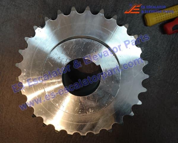 Escalator KM5201052H01 main driving motor sprokect