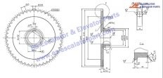 Escalator sprocket wheel for handrail drive