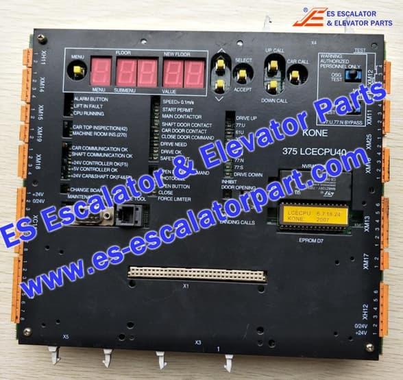 Kone elevator main board 375 LCECPU40