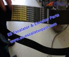 Escalator TUGELA 945 poly-V belt 12 grooved