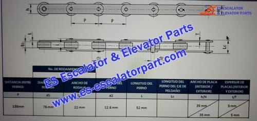 OTIS Escalator Parts Step Chain