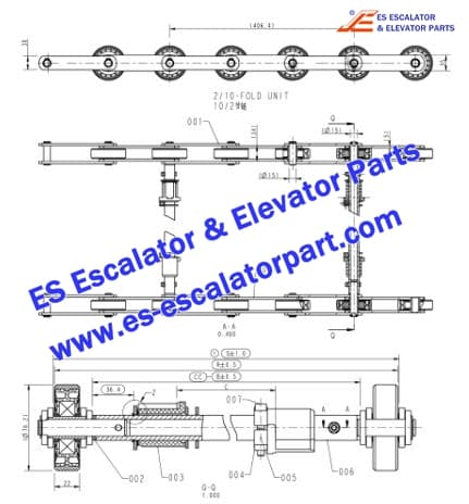 OTIS  Escalator Parts Step Chain
