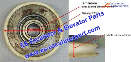 Mitsubishi Elevator Parts ES-BR-01 Door Roller 72x16x15mm 6002