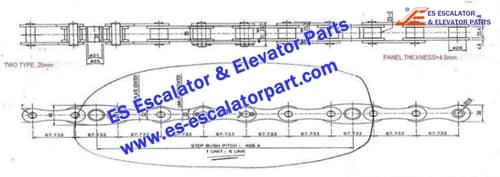 Mitsubishi Escalator Parts Step Chain pin25