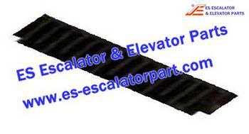 Thyssenkrupp Escalator Parts 1705752900 Black Step Demarcation