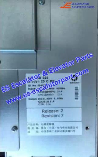 Schindler Elevator Parts 59410991 Inverter