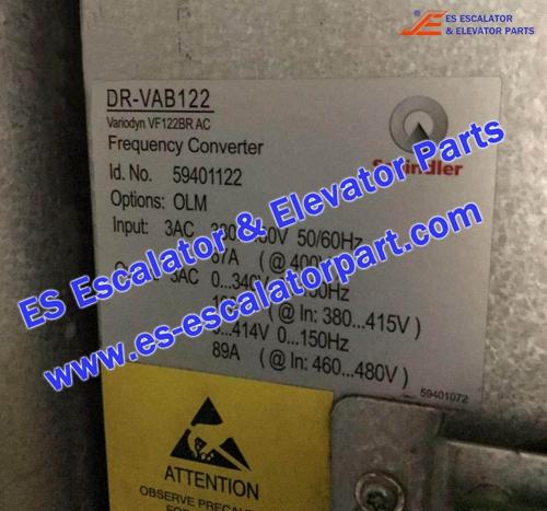 Schindler Escalator Parts DR-VAB122 Frequency Converter