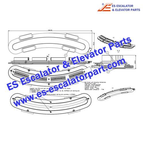Schindler Elevator Parts 59379013 bracket lamp
