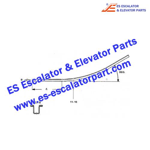 Escalator Parts GAA402BRN1 Handrail guide