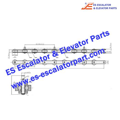 Schindler Escalator Parts TL133-180-G76 Step Chain