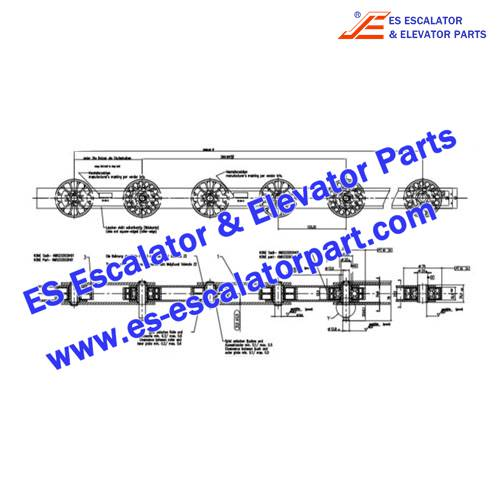 KONE Escalator Parts KM5248760H01 10DH-C-S Step Chain