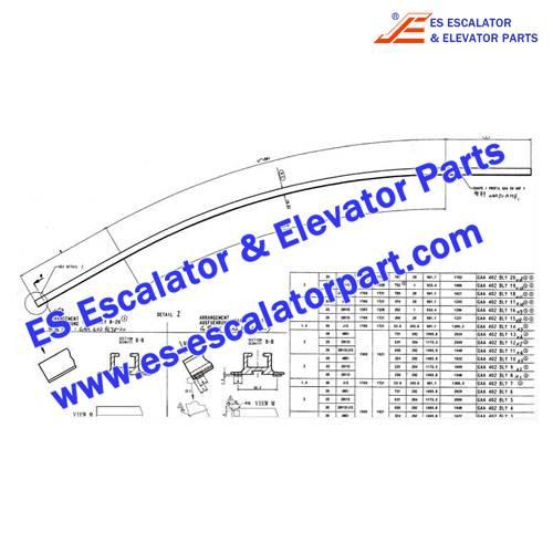 otis escalator GAA402BLY handrail guide