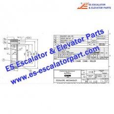 Escalator 8011112 Step chain roller