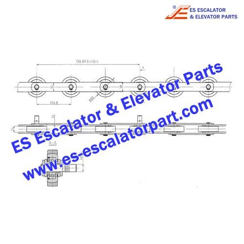 LG/SIGMA Escalator SEE30-1200-R5500 Step Chain