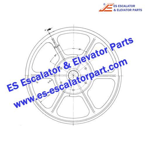 OTIS Escalator GOA265A8 Wheel