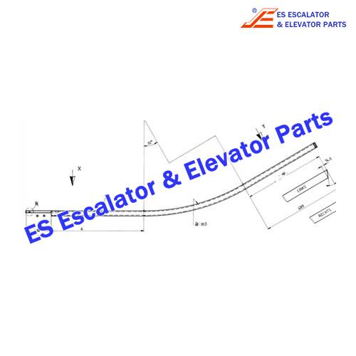 OTIS Escalator GB483YP10 Step wheel return guide