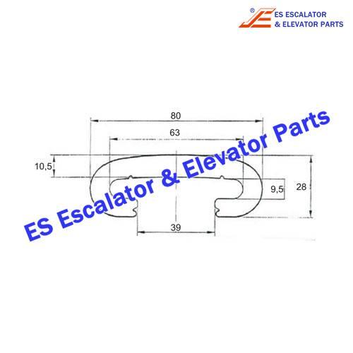 Escalator KM1368294H01 Handrail