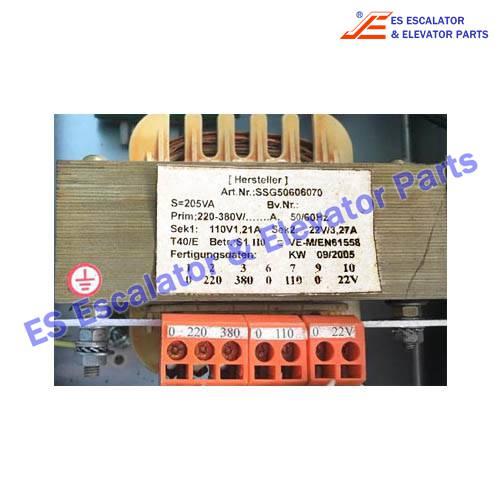 Escalator Parts SSG50606070 TRANSFORMER 1PH 205VA PR380V SK110/22V