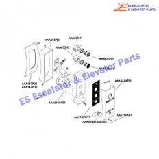 AAA346ATZ1 Escalator Keyswitches Parts Cover Clear