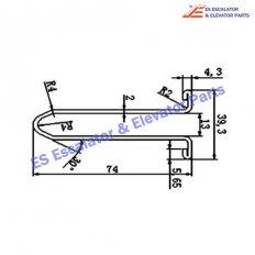 Escalator XAA50CG-1 Track
