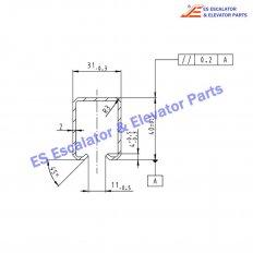 DEE0075174 Escalator Guide Rail