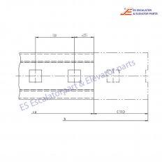 <b>KM5051223 Escalator Handrail Guide</b>