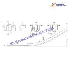 <b>XBA402AMA2 Escalator Xo508 Guide Track</b>