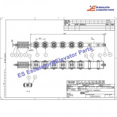 <b>KM5281451G01 Escalator Handrail Pressure Roller Chain</b>